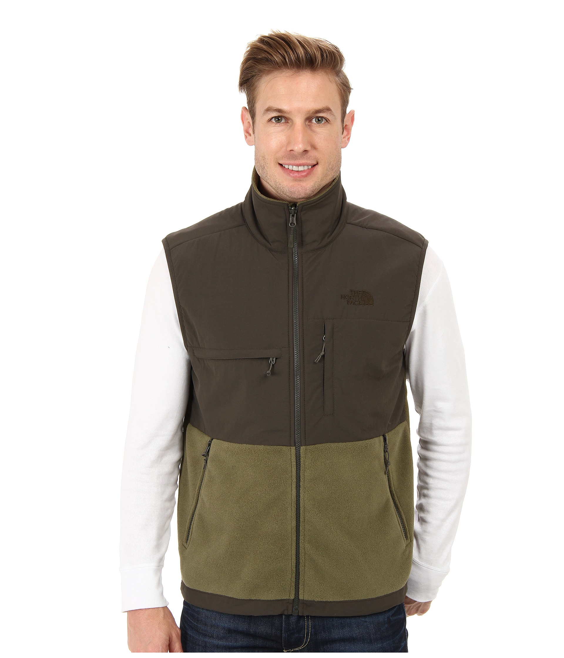 259e5f40825b ... discount code for lyst the north face denali vest in green for men  183c2 82efc