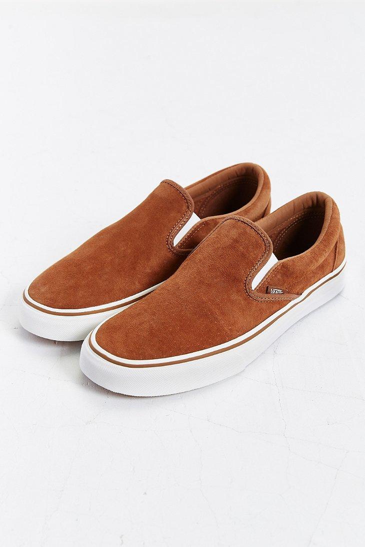 vans slip on brown