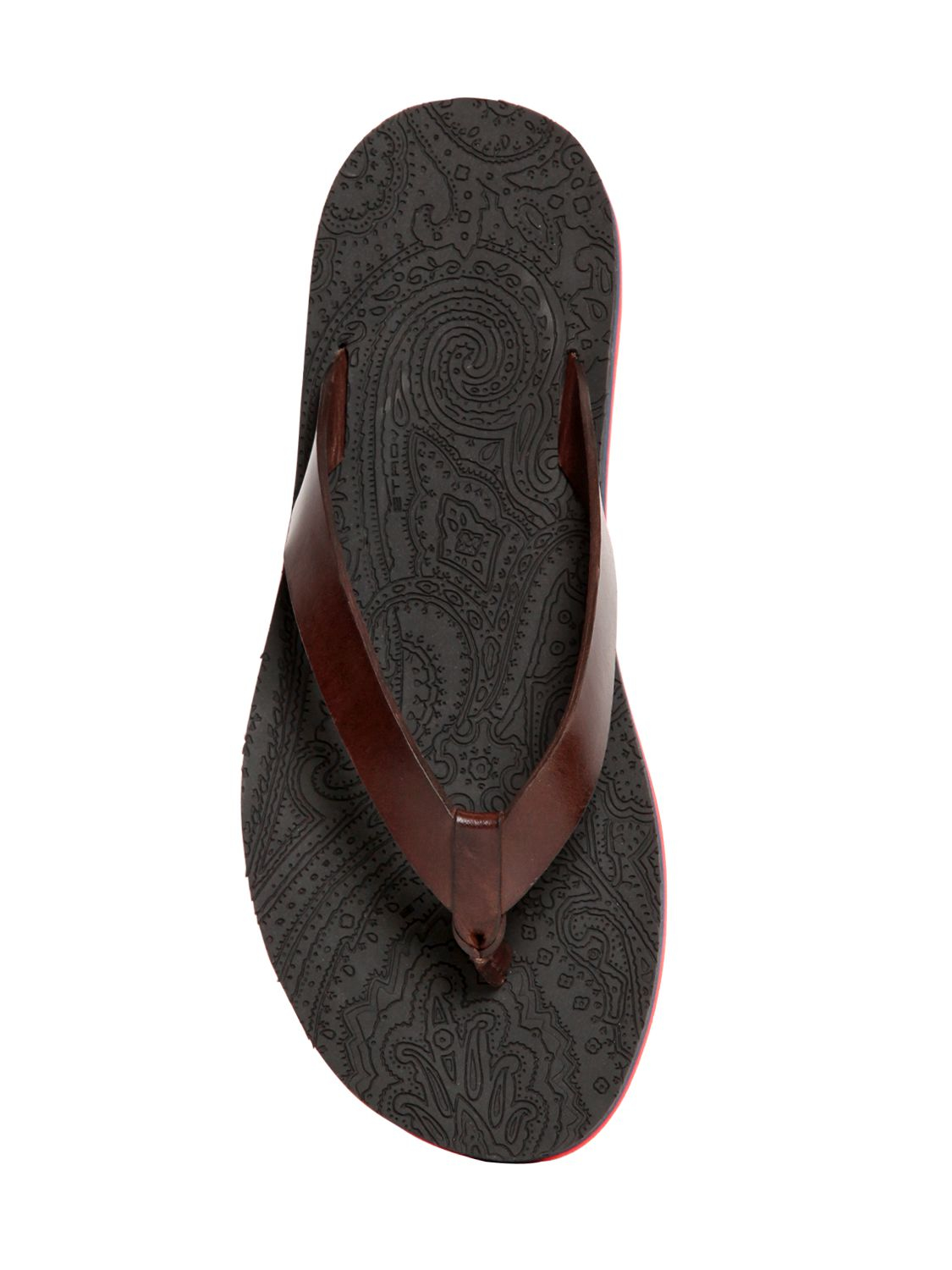 Lyst - Etro Leather  Rubber Flip Flops In Brown For Men-4382