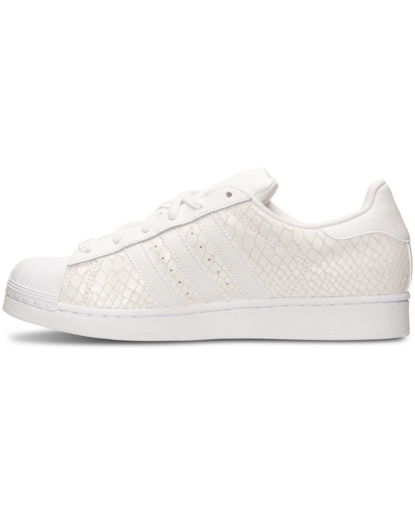 Lyst - adidas Originals Women s Superstar Casual Sneakers From Finish Line  in White eeb05f26e