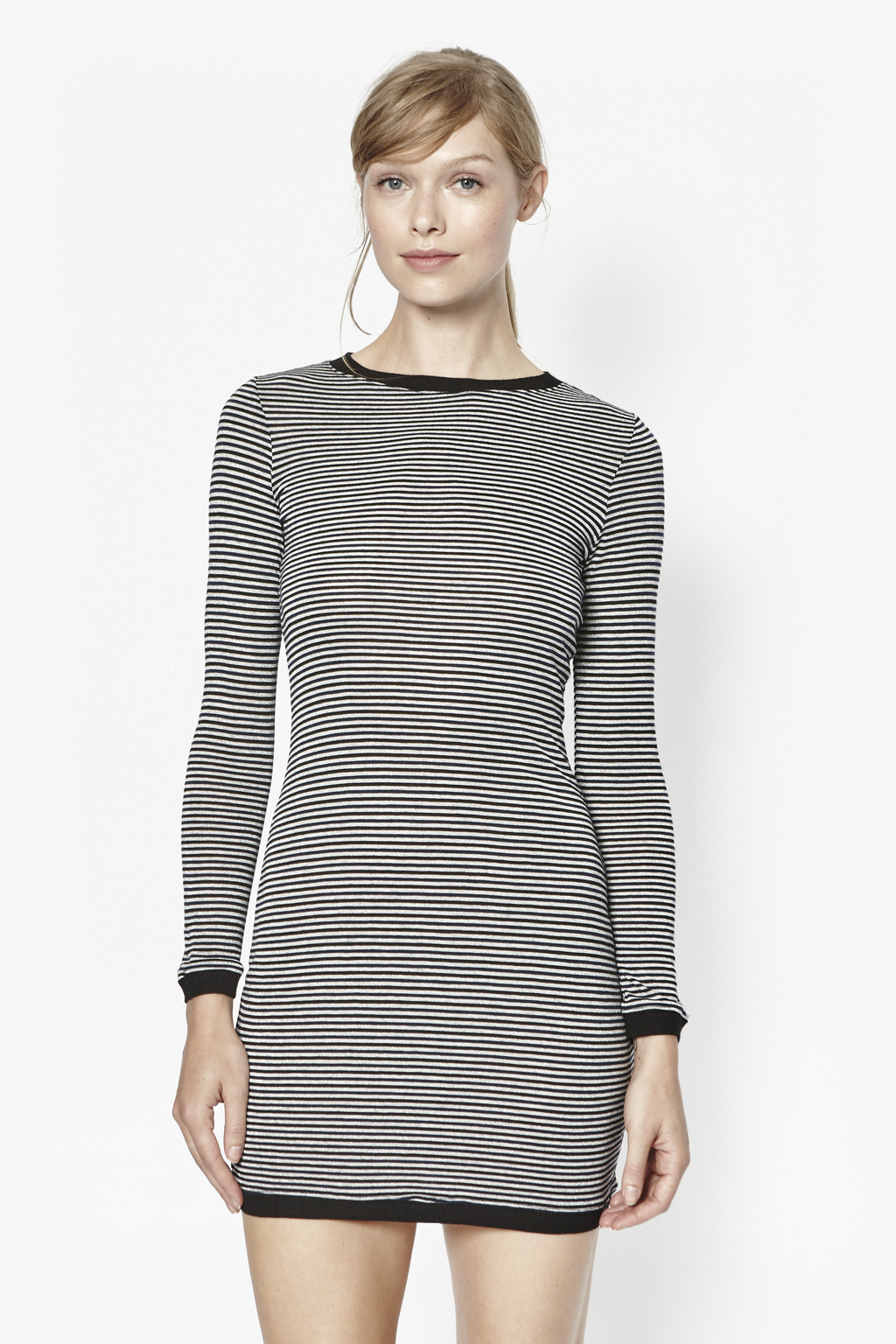 French connection Starzy Stripe Long Sleeve Dress in Black  Lyst