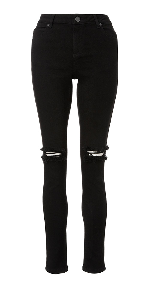 We're totally crushin' on these black high waisted beauts. These skinny jeans come in a super soft stretch finish which creates a flattering fit and sexy silhouette, and ripped knee universities2017.ml: Missguided.