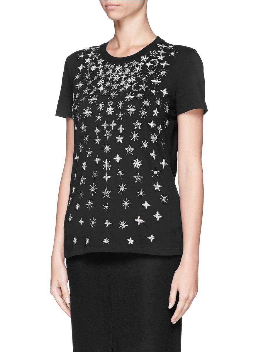 Lyst alexander mcqueen star moon sequin bead embroidery