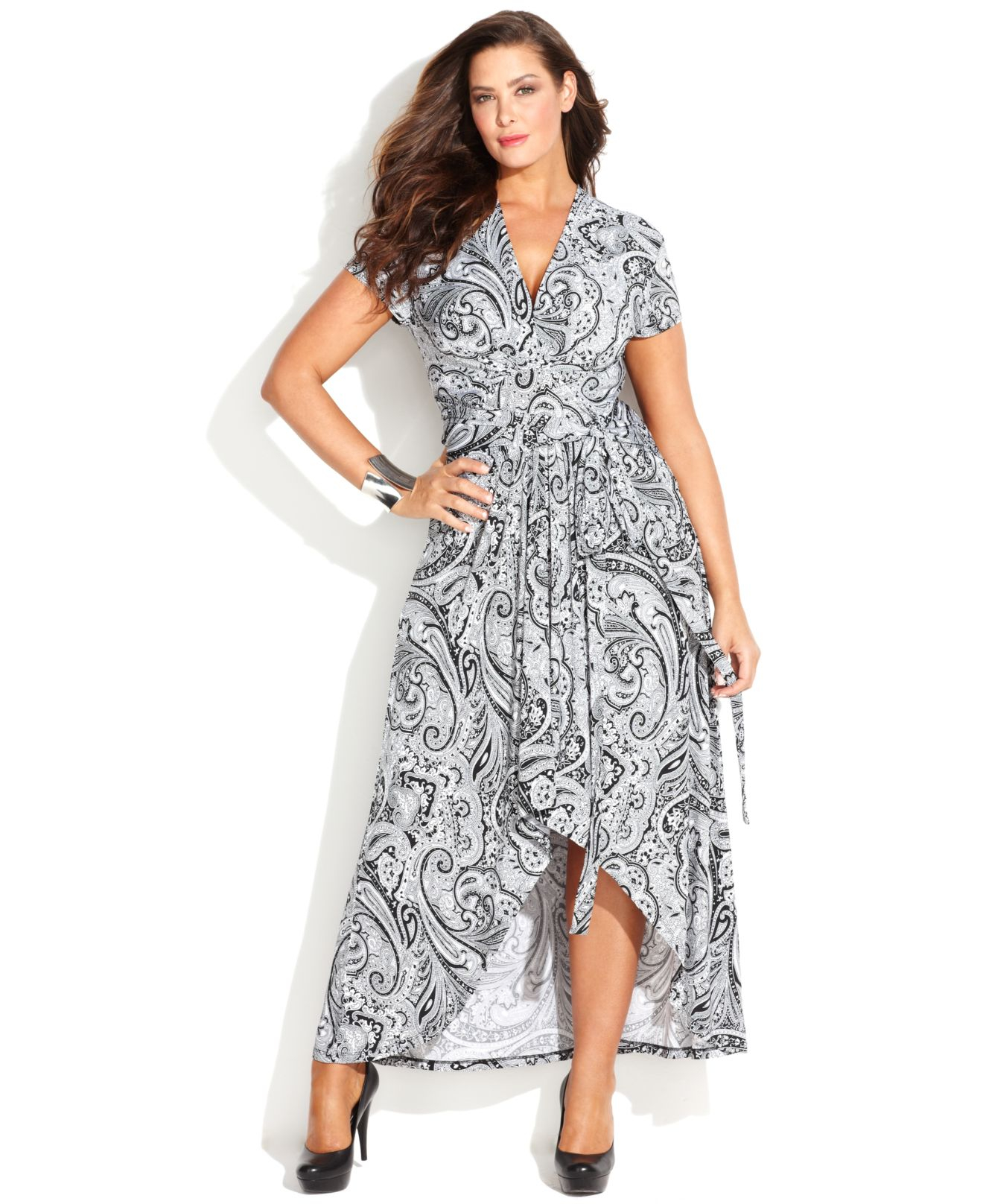 Lyst Michael Kors Michael Plus Size Printed Fauxwrap Maxi Dress In