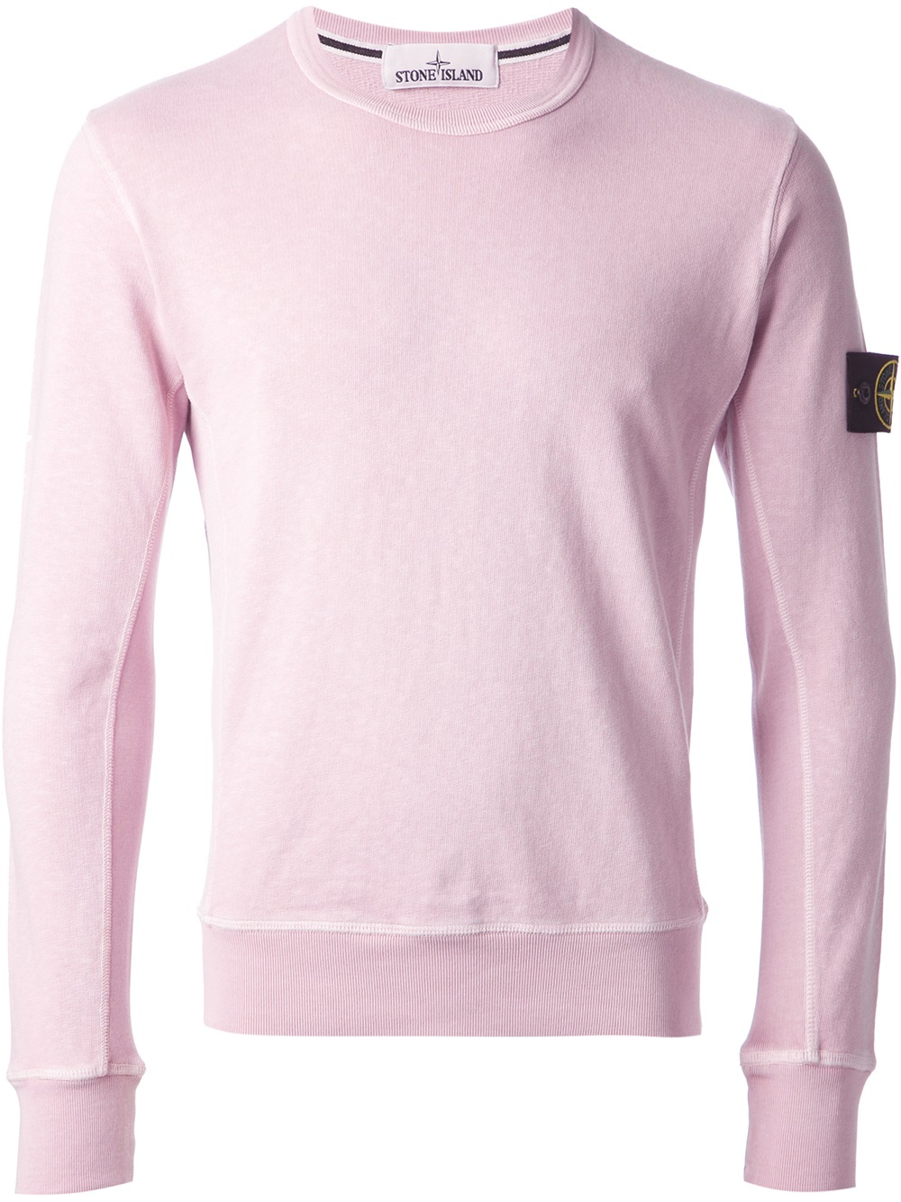 e05c03878f11 Stone Island Logo Patch Sweatshirt in Pink for Men - Lyst