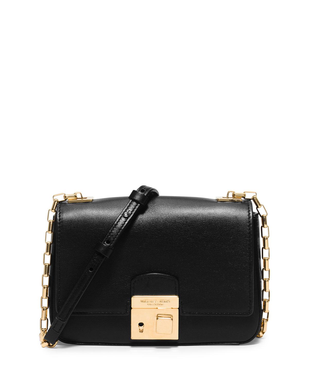 01e1ef939bb ... cheap lyst michael kors gia small chain strap flap bag in black 2ad38  94abd