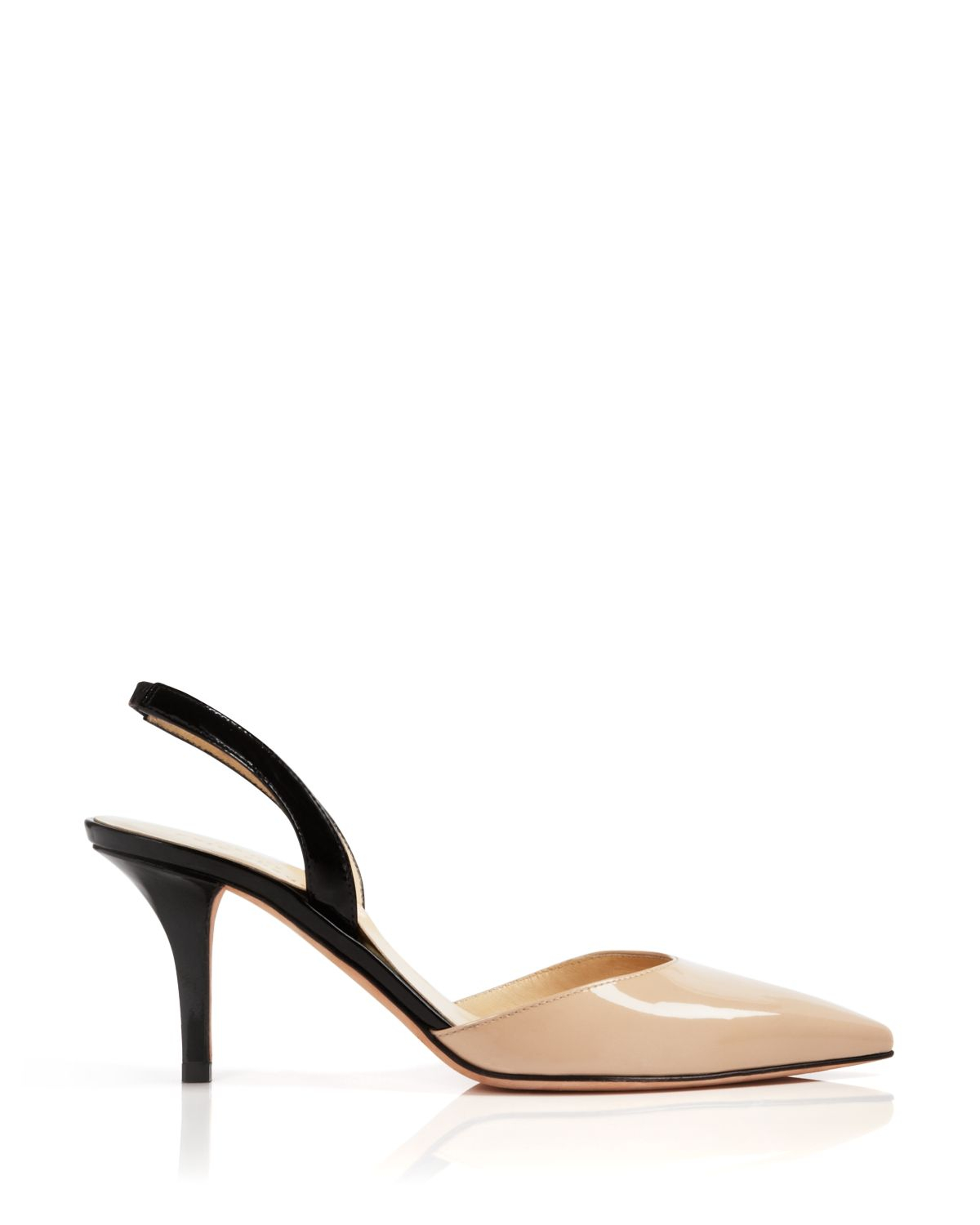 418498db0 Kate Spade Pointed Toe Slingback Pumps - Jeanette Colorblock Mid ...