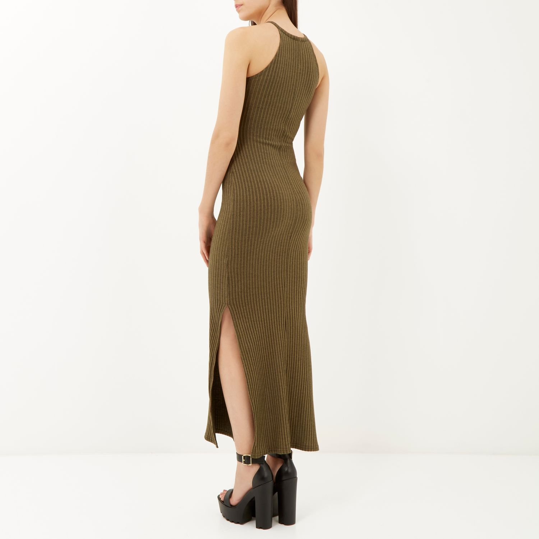 River Island Green Maxi Dress