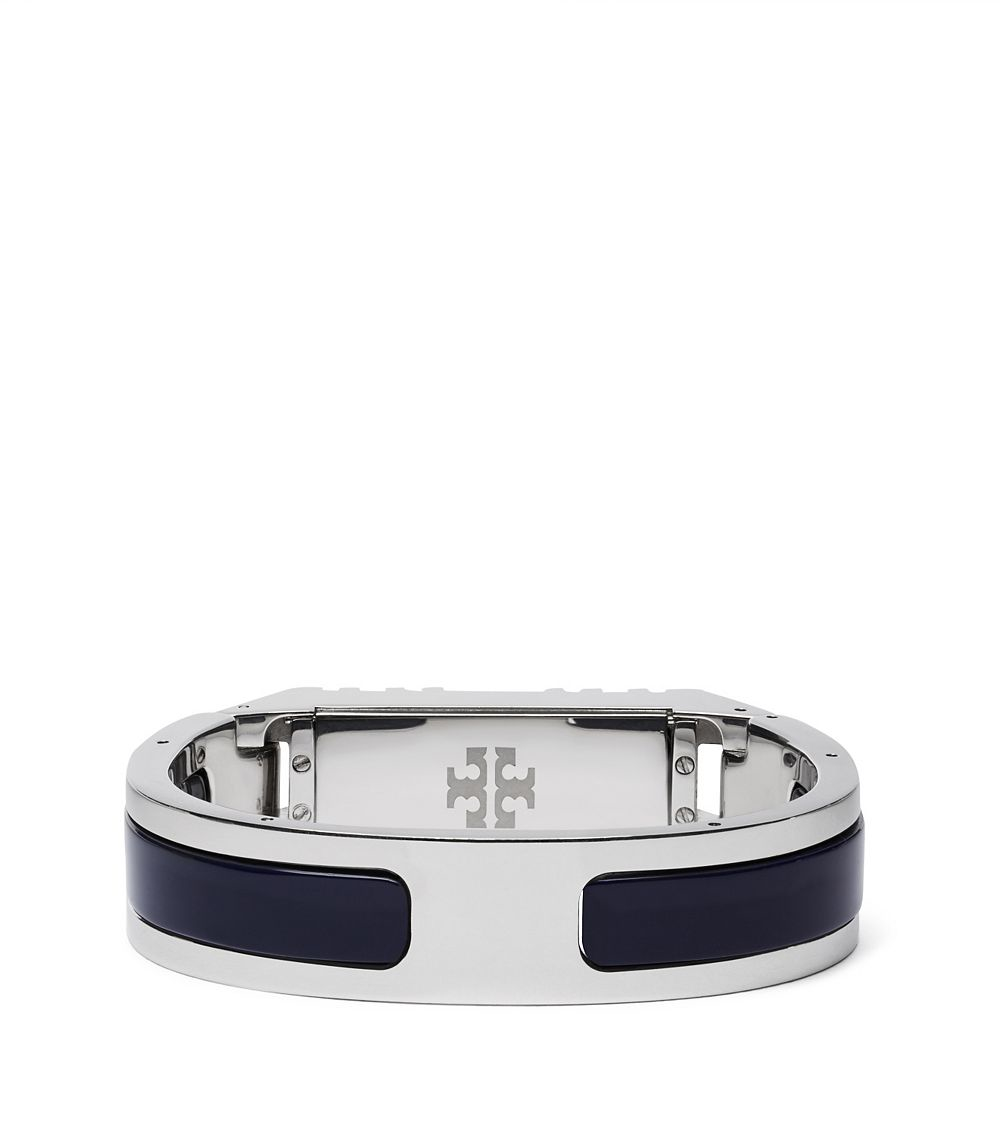 d38b3e52798c Tory Burch For Fitbit Resin-inlay Hinged Bracelet in Metallic - Lyst