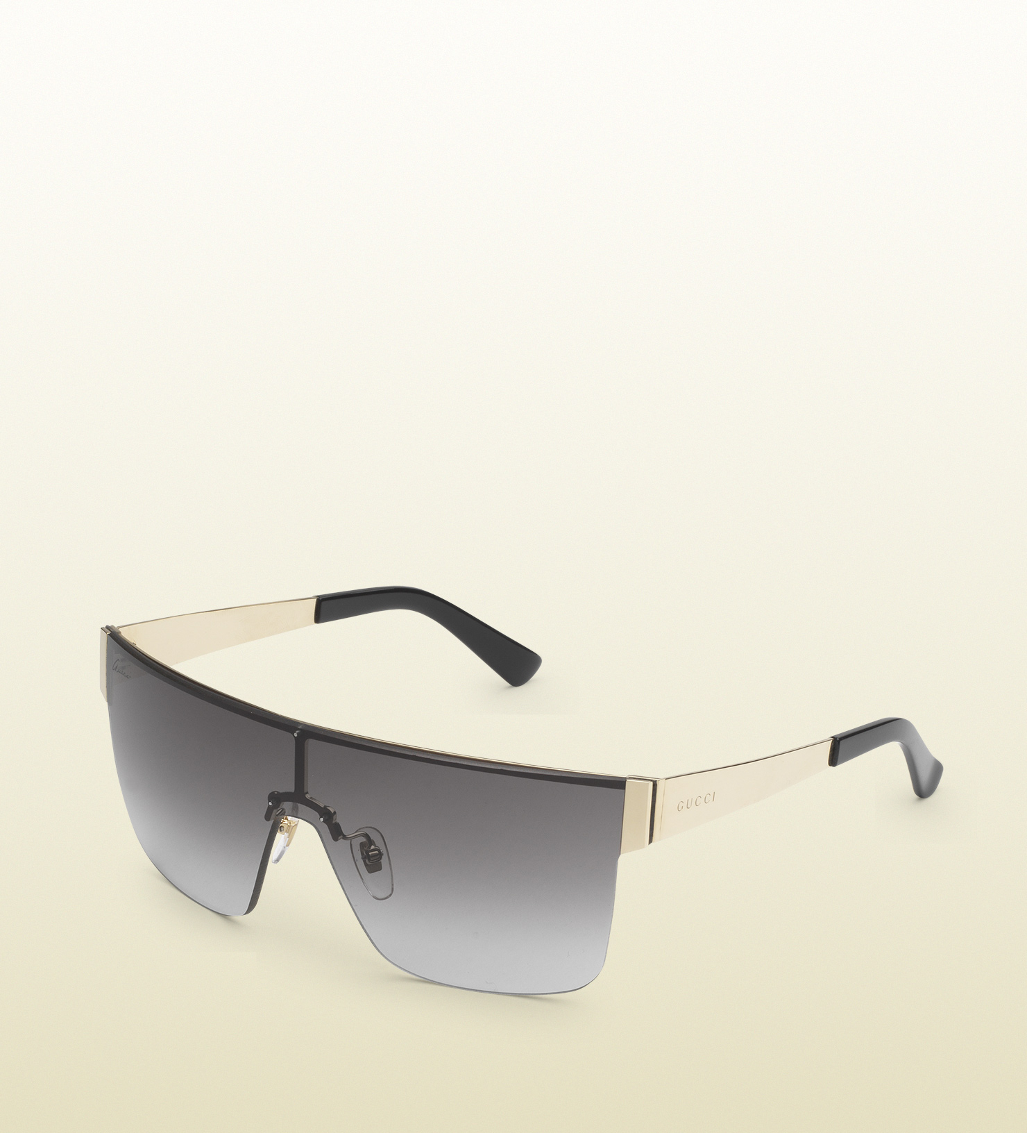 b69df595321 Lyst - Gucci Mask-frame Metal Sunglasses in Metallic for Men
