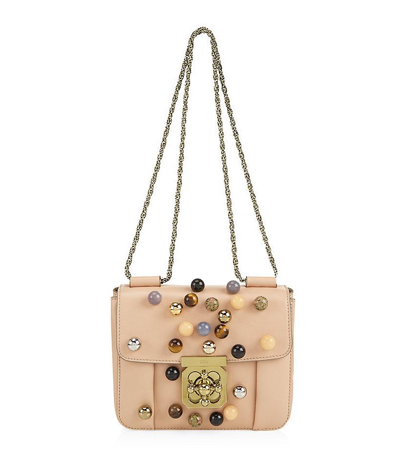Chlo�� Small Elsie Embellished Shoulder Bag in Beige (blush) | Lyst