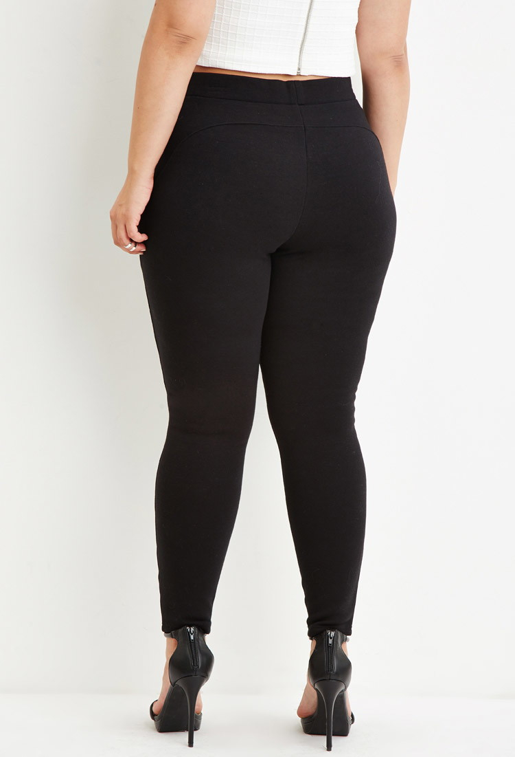 Forever 21 Plus Size Classic High-waisted Leggings in Black | Lyst