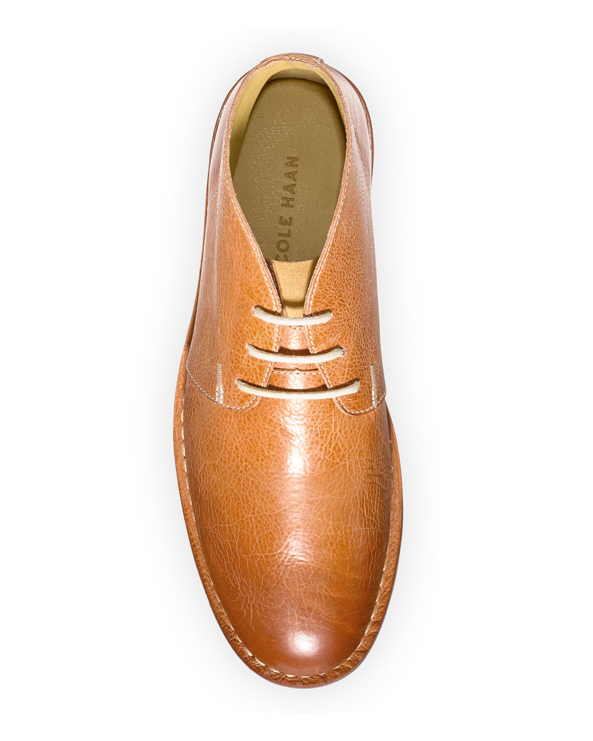 cole haan glenn leather chukka boot in brown for lyst