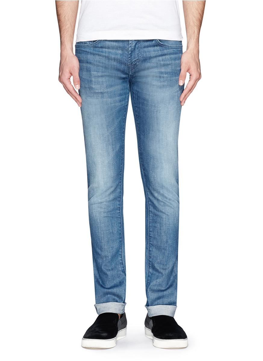j brand mick skinny jeans in blue for men blue and green. Black Bedroom Furniture Sets. Home Design Ideas