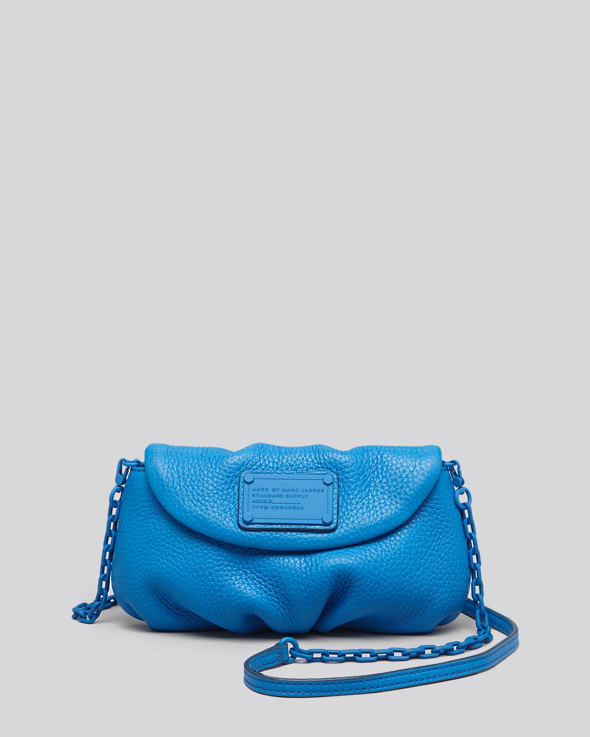lyst marc by marc jacobs crossbody electro q karlie in blue. Black Bedroom Furniture Sets. Home Design Ideas