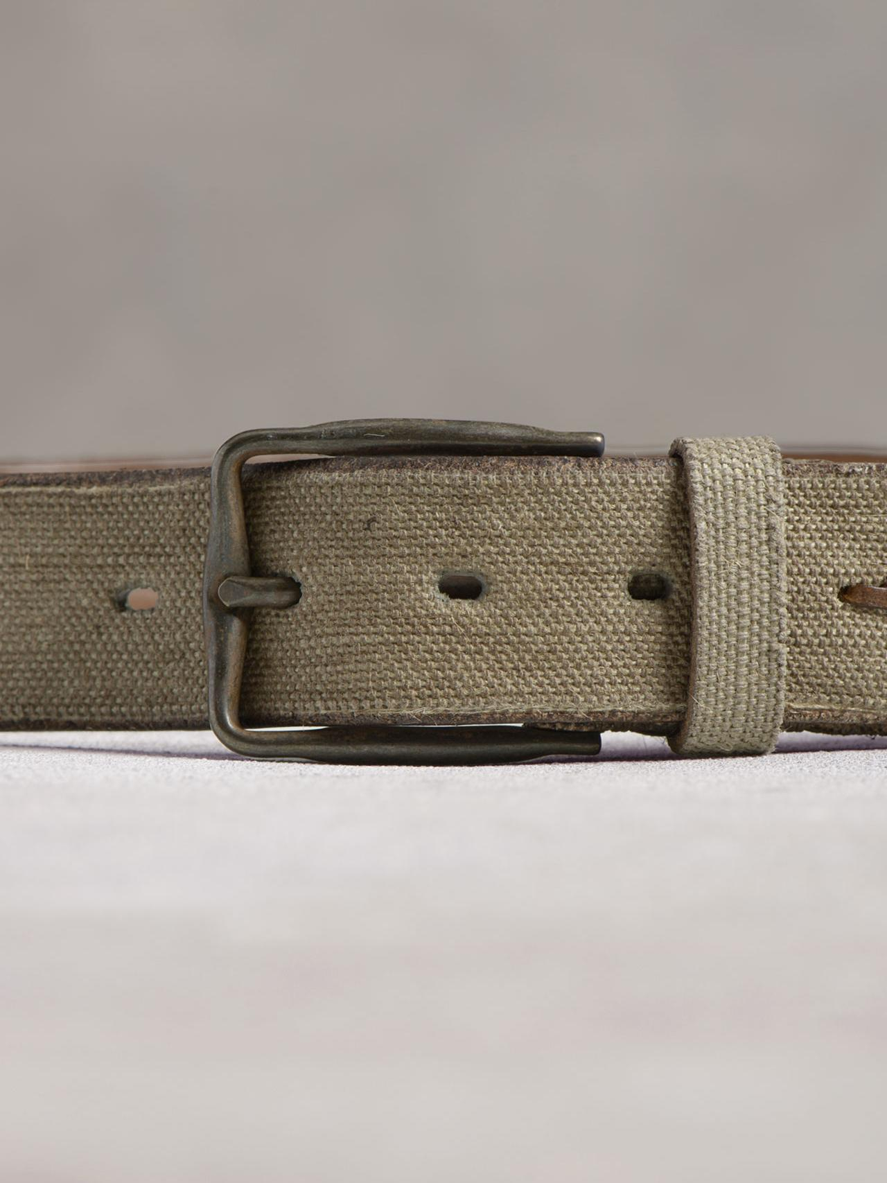 varvatos leather canvas belt in for lyst