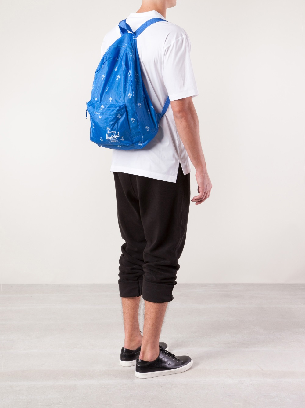 lyst herschel supply co packable daypack in blue for men