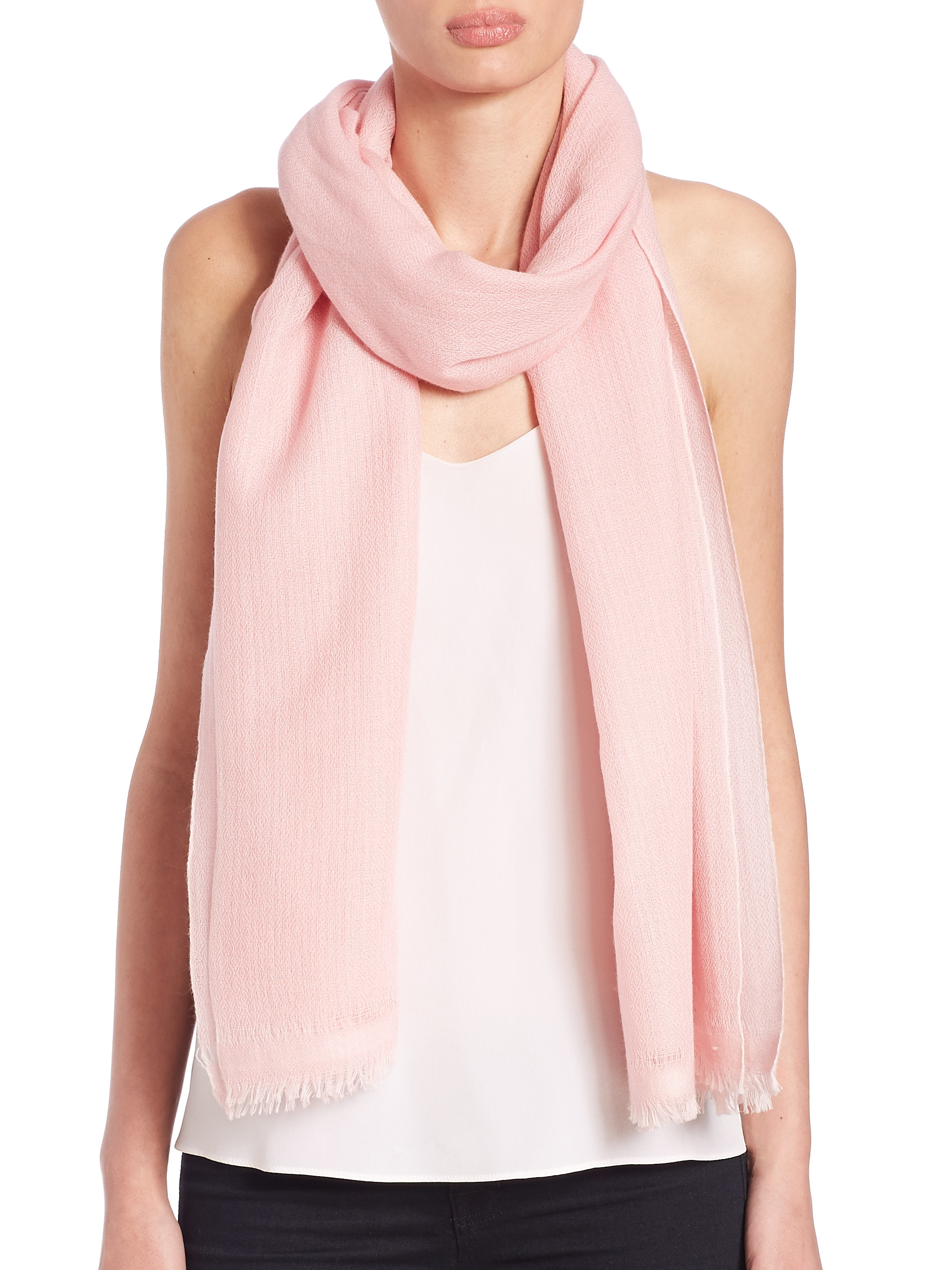 bajra fringed scarf in pink lyst