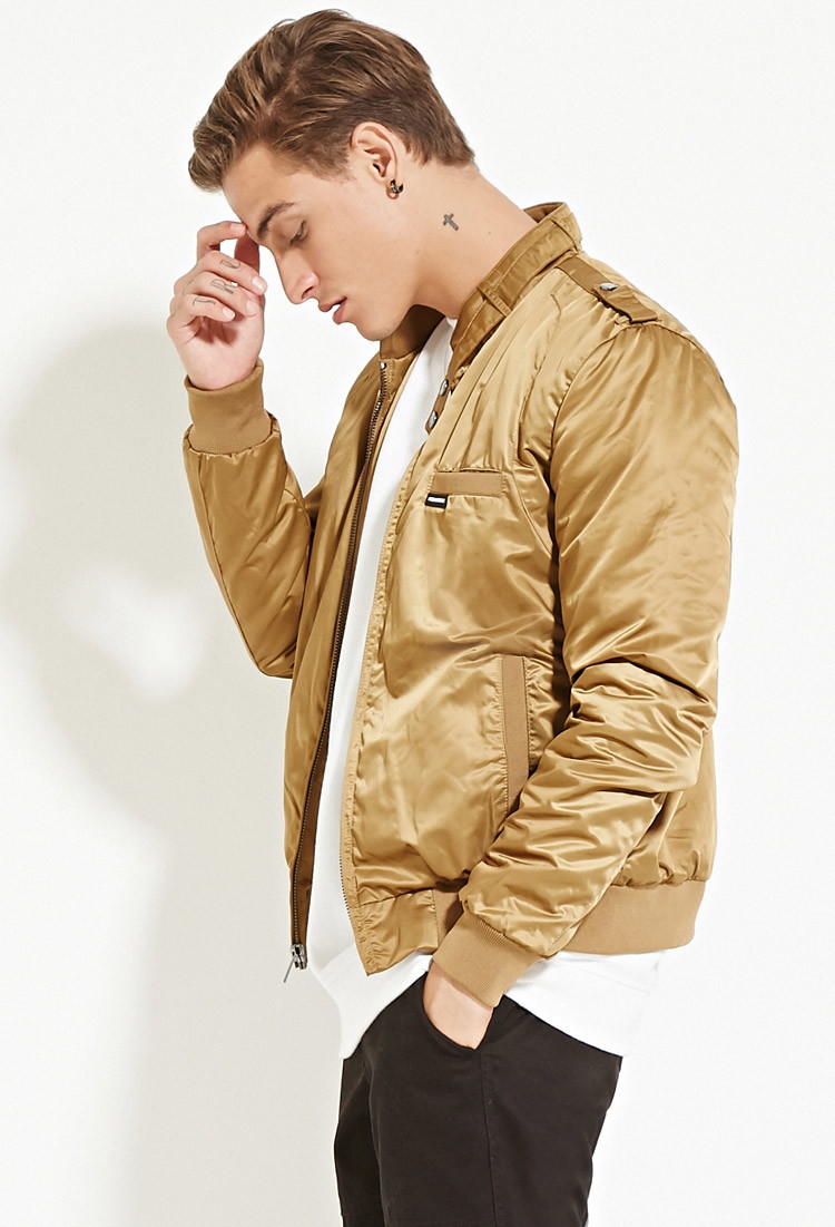Tan Bomber Jacket Mens | Outdoor Jacket