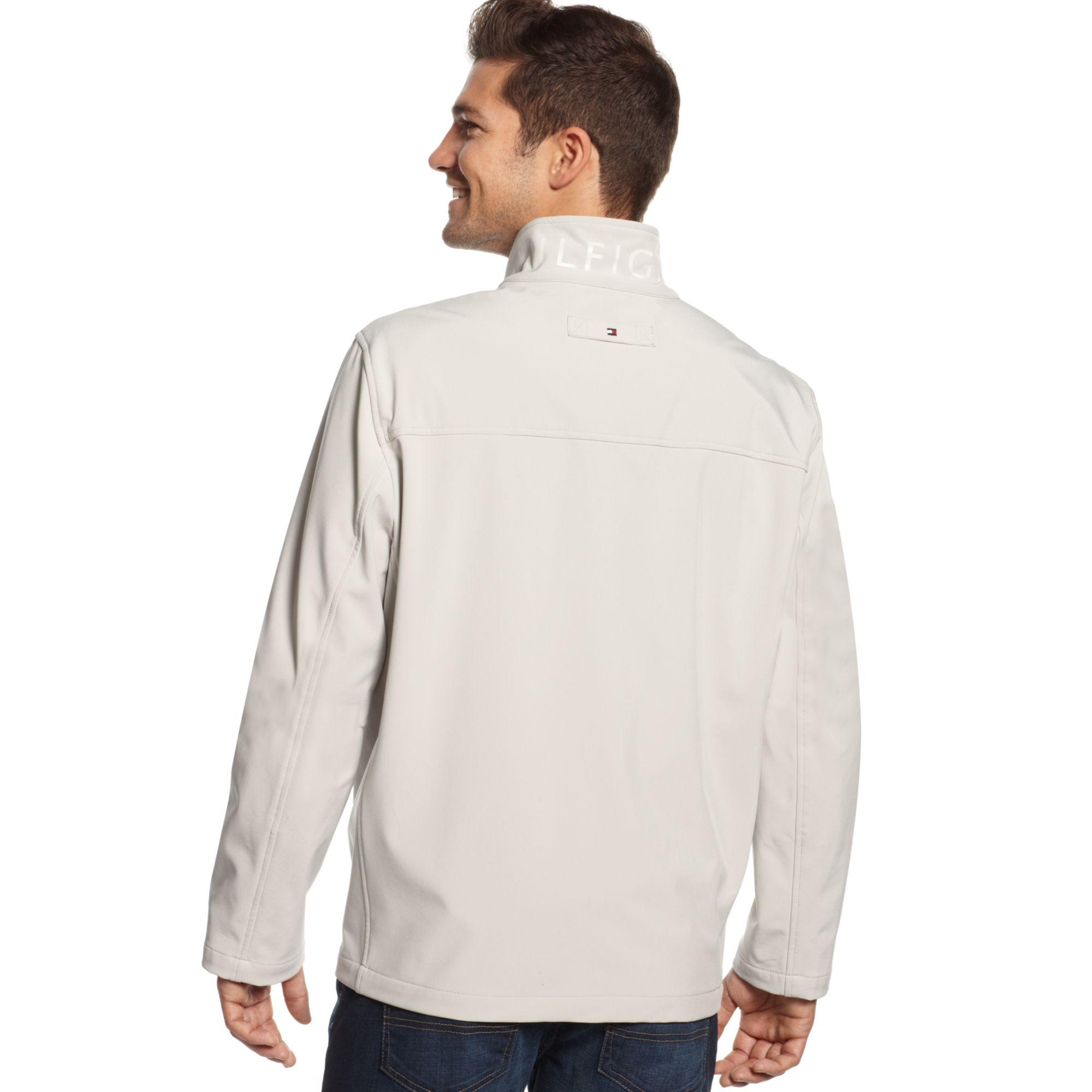 tommy hilfiger soft shell jacket in beige for men oyster. Black Bedroom Furniture Sets. Home Design Ideas
