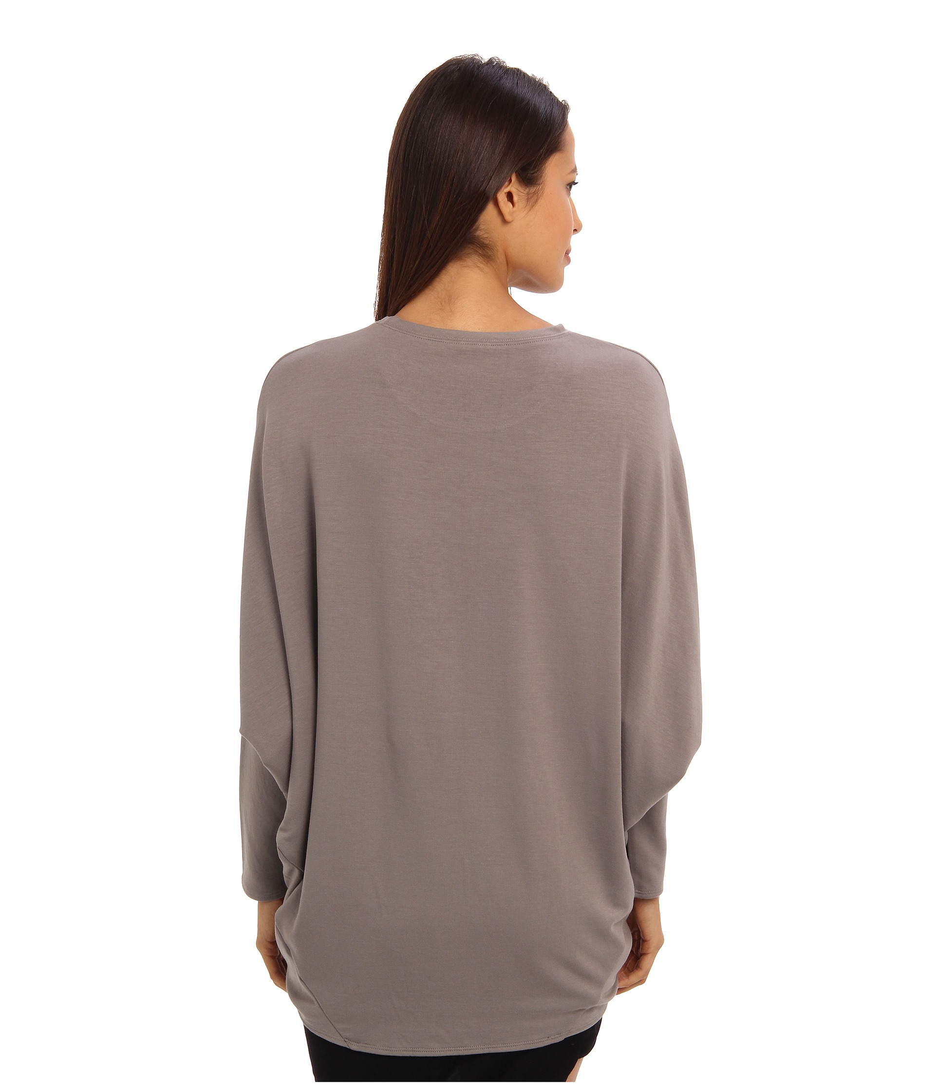 Lyst helmut lang round shape sweatshirt in gray - Sweatshirt kleid lang ...