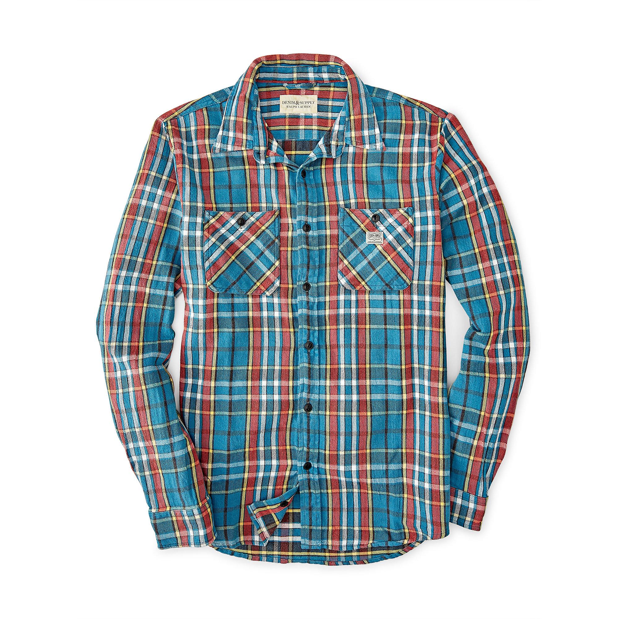 4f547a18c Denim   Supply Ralph Lauren Ward Plaid Cotton Twill Shirt in Blue ...