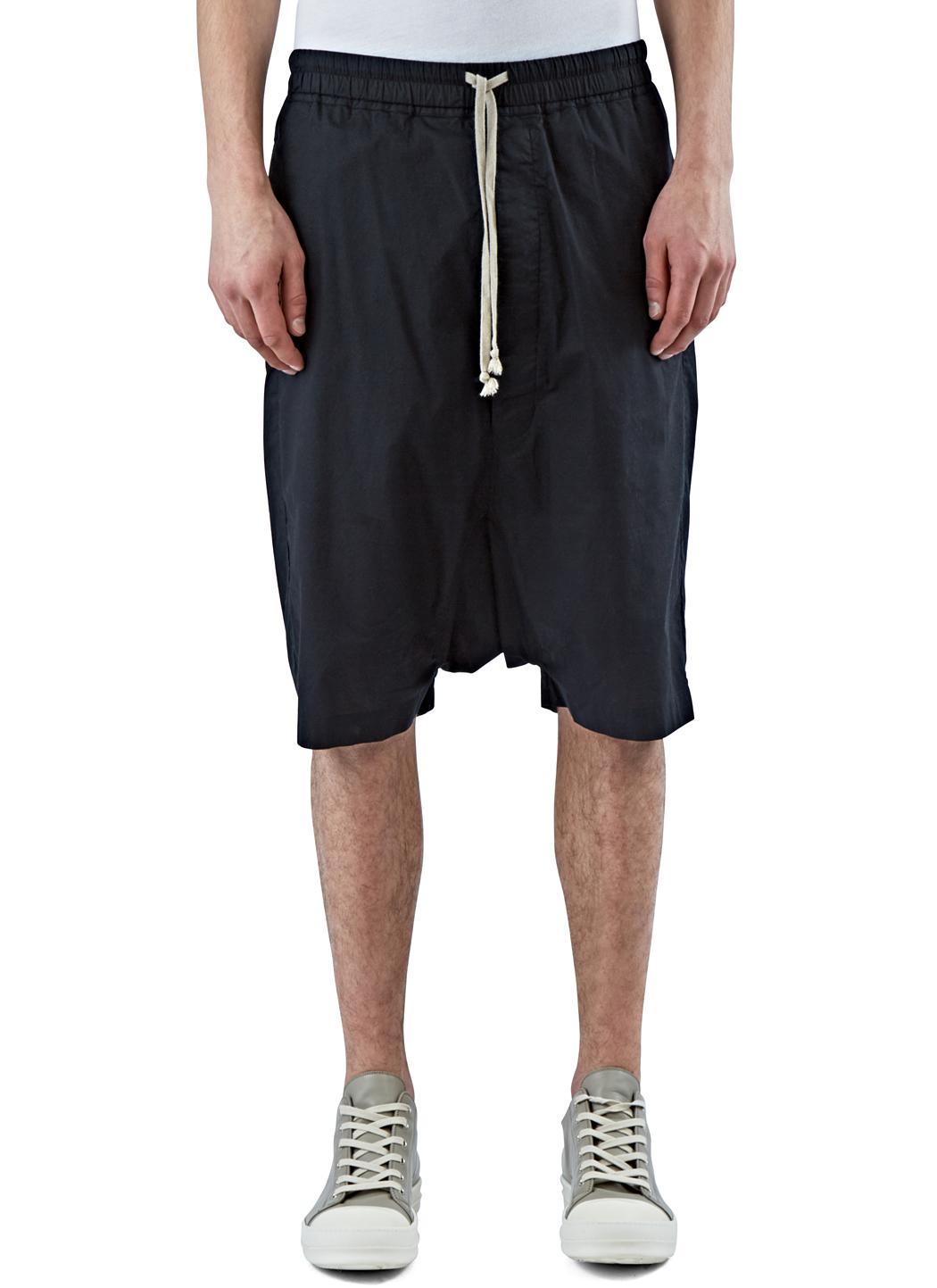 Rick owens Men's Oversized Mega Shorts In Black in Black for Men ...