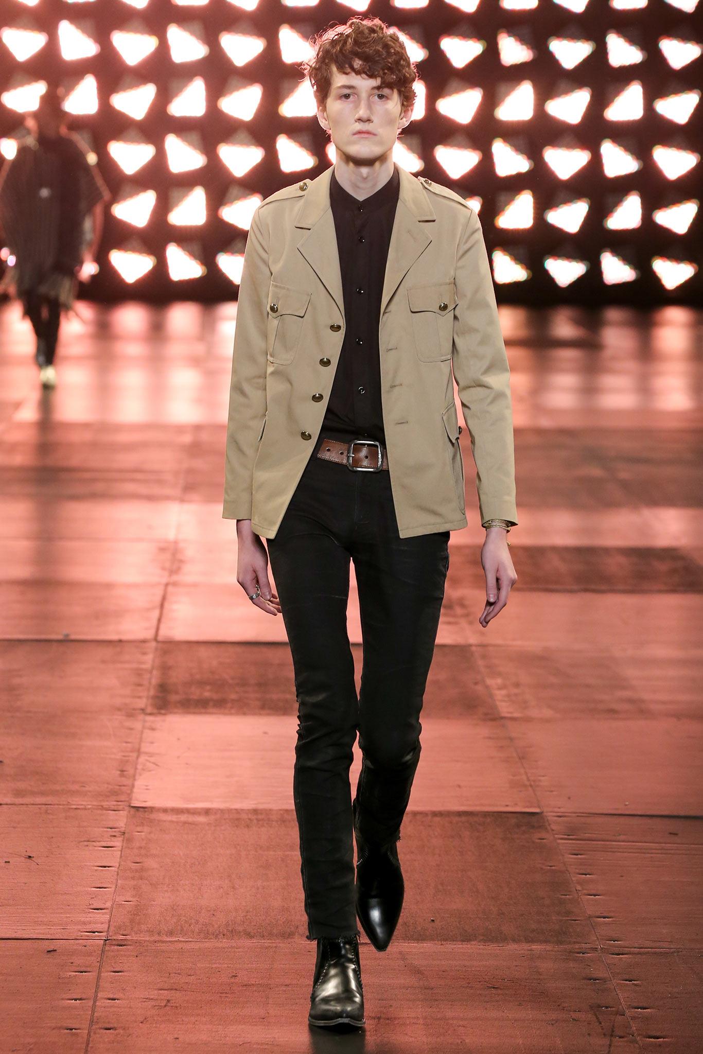 Lyst Saint Laurent Safari Jacket In Natural For Men