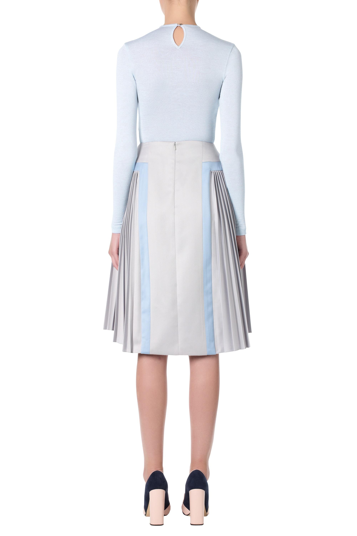 katrantzou stepastopa midi pleated skirt embroidered