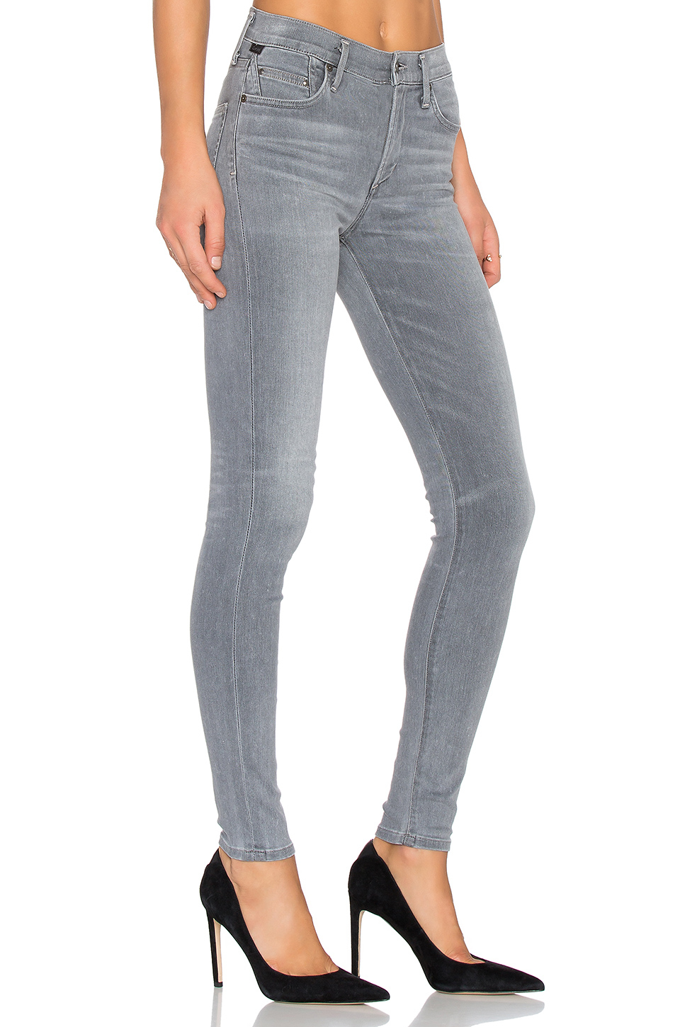 cropped straight jeans - Grey Citizens Of Humanity 6ELu3n