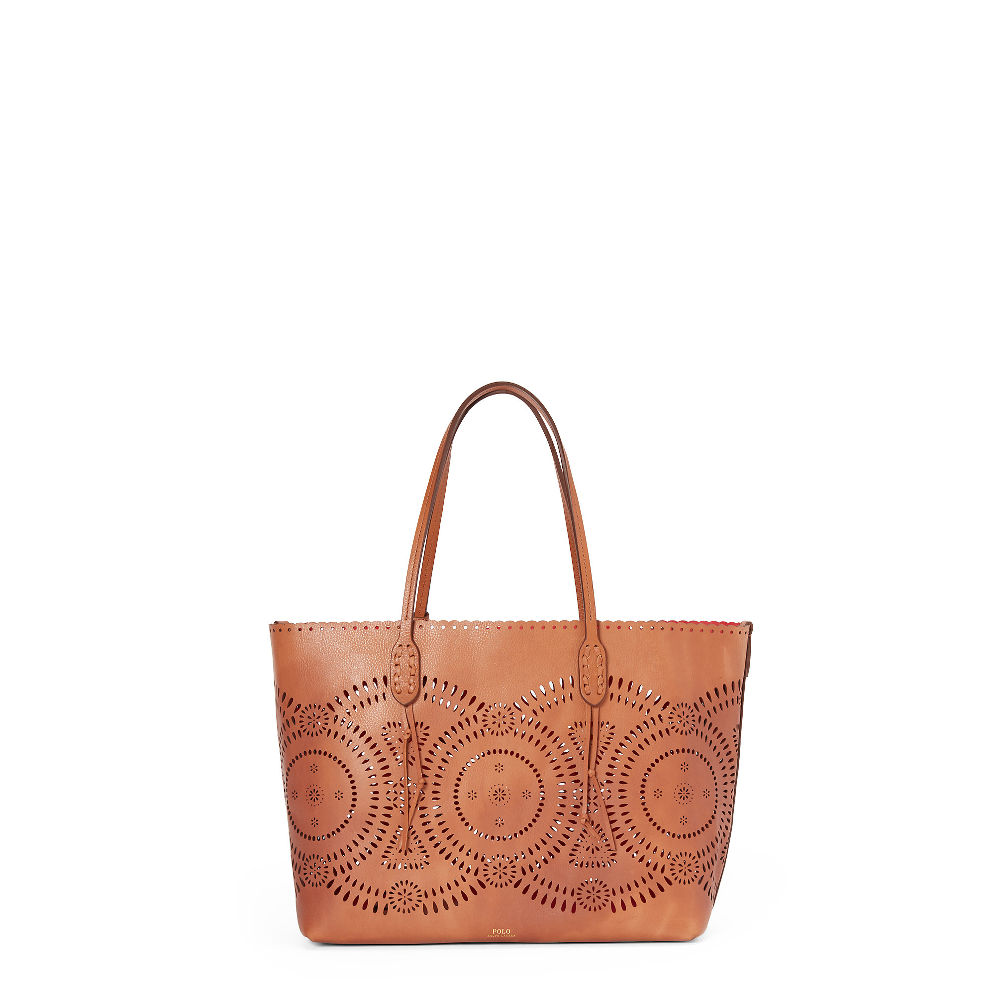 099979ad70c Lyst - Polo Ralph Lauren Laser-cut Leather Tote