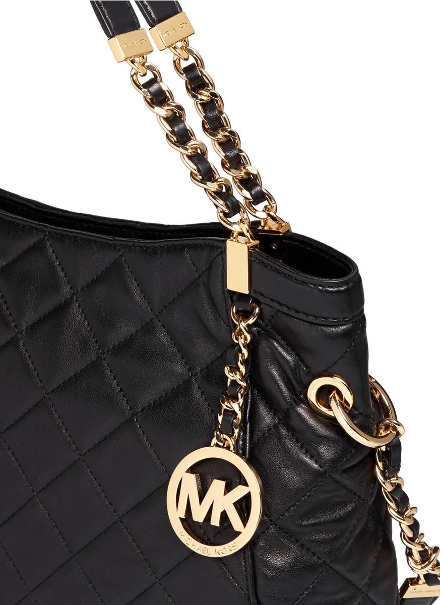 ea820d39f6d19c michael kors susannah quilted leather handbag gold metallic wallet ...