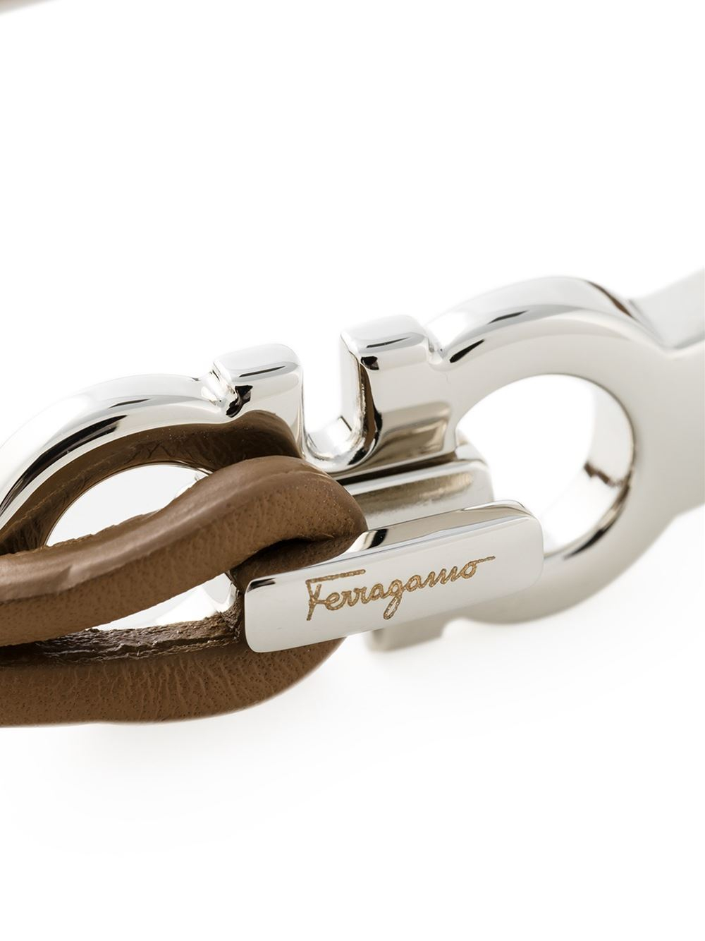Ferragamo Gancini Bracelet in Brown for Men