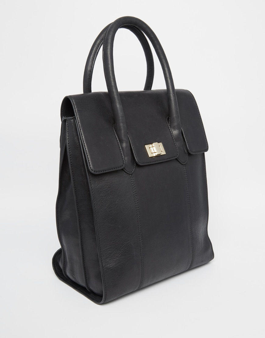 Urbancode Leather Tote Backpack in Black | Lyst