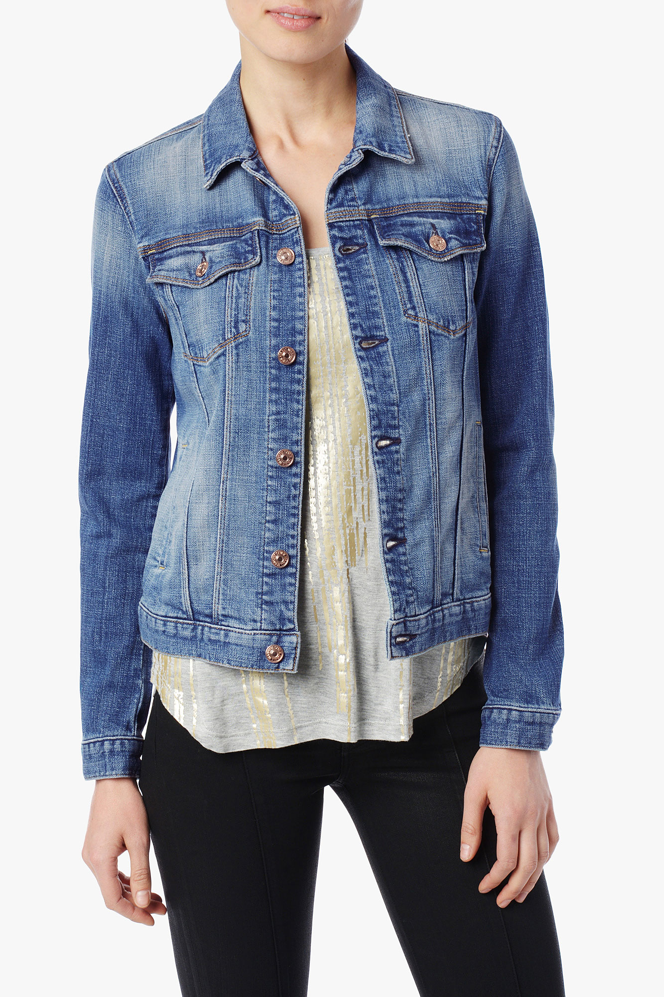 7 for all mankind Classic Denim Jacket in Blue | Lyst