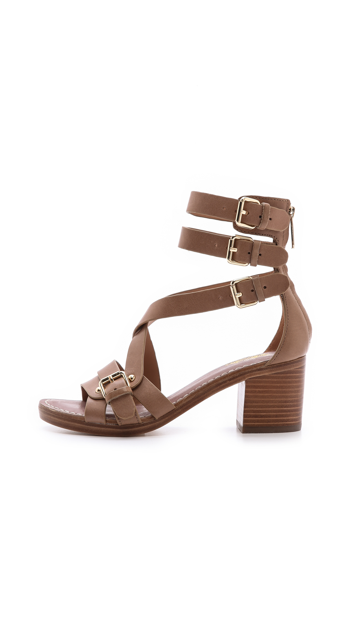 Belle by Sigerson Morrison Block heel sling back sandals N8AsicKMw3