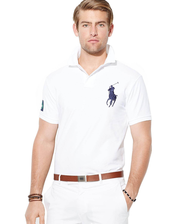 7940282a43aa Ralph Lauren Polo Us Open Custom Big Pony Polo Shirt Slim Fit in ...
