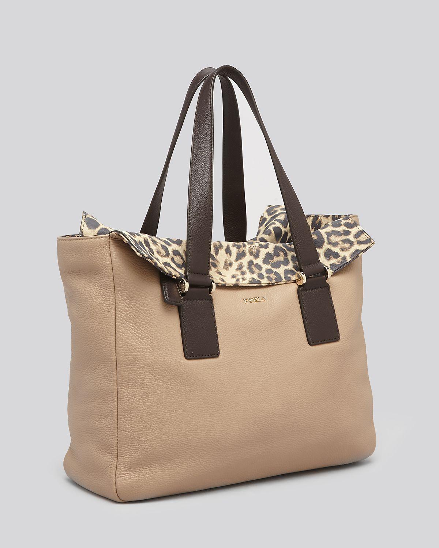 Furla Tote Daisy Leopard In Beige Luna Toni Naturali Lyst