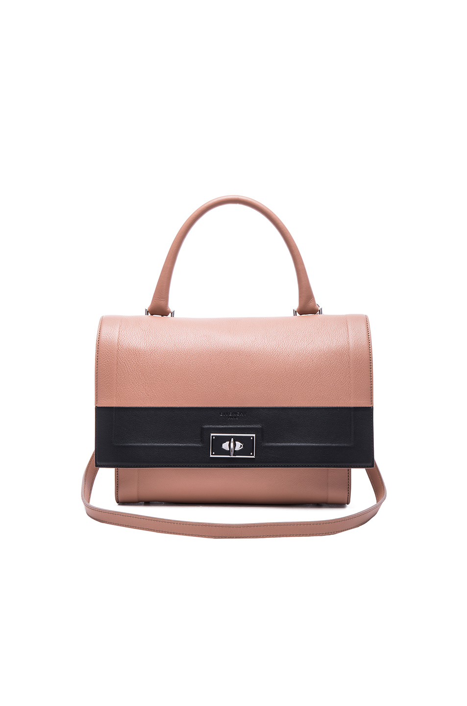 Lyst - Givenchy Small Contrast Band Leather Shark Bag in Pink 22bf1e3916f60