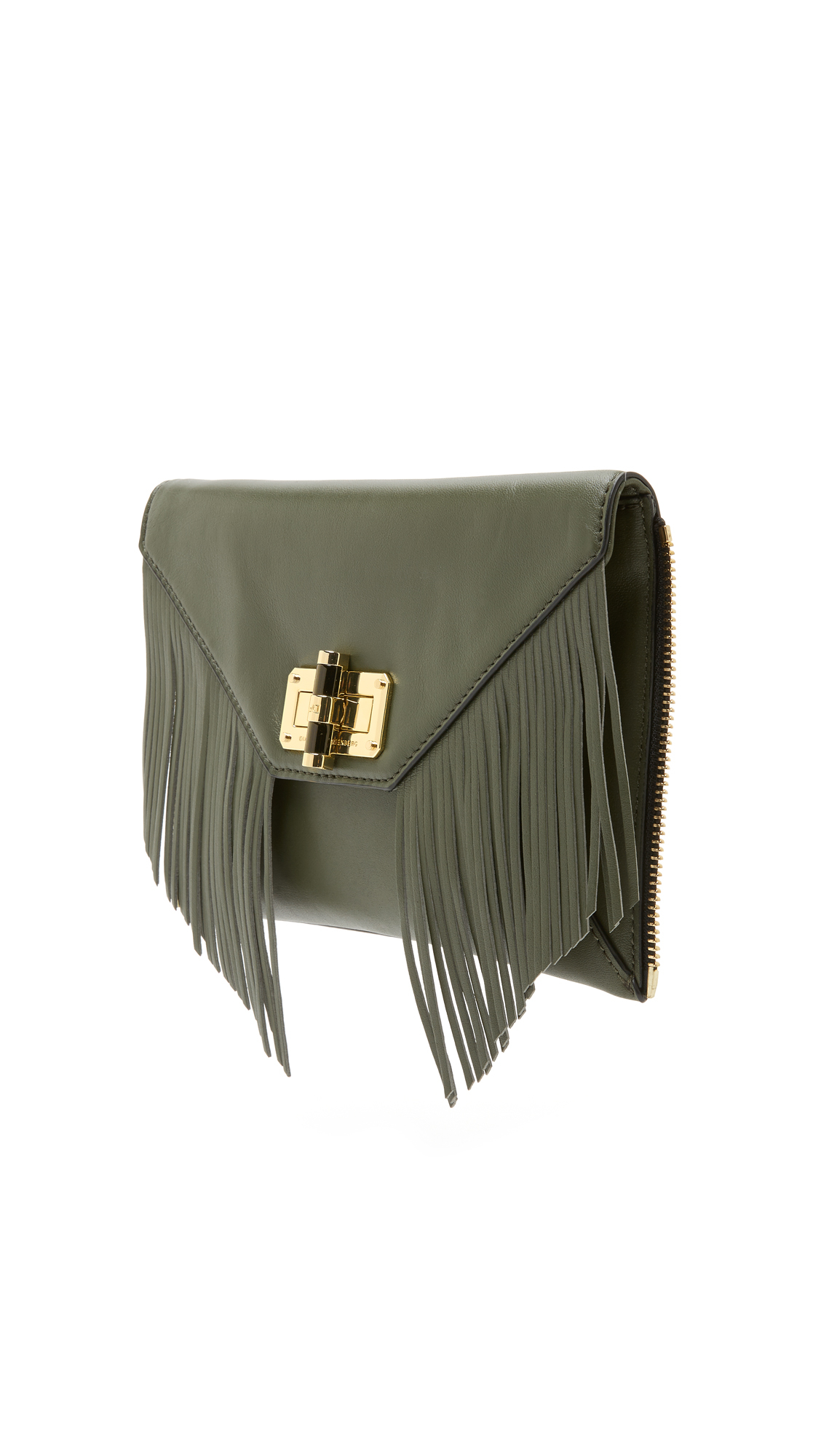 b9c476cf344f Diane von Furstenberg 440 Secret Agent Zip Out Clutch - Olive in ...