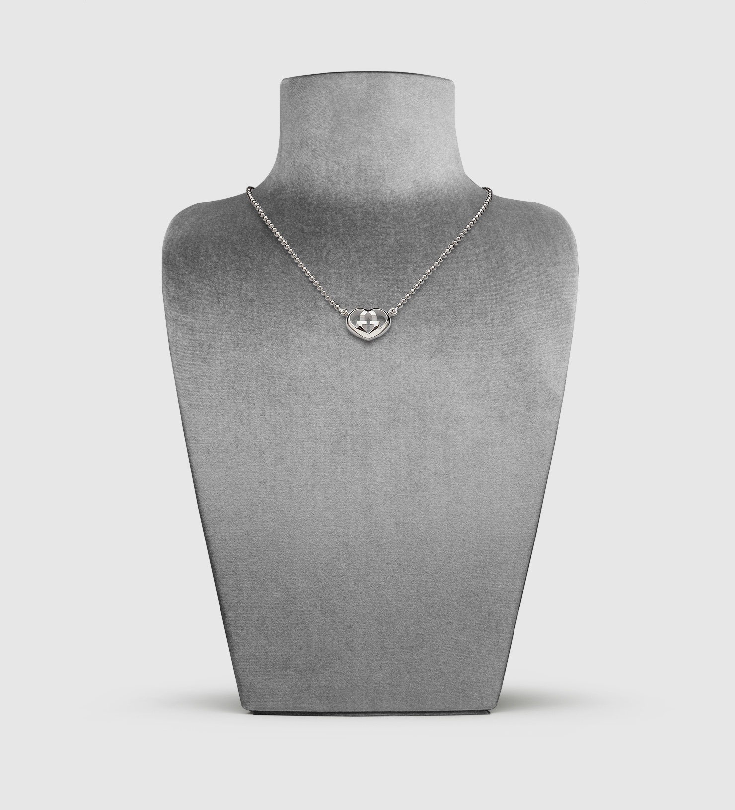 21725f1ba Gucci Necklace With Heart-shaped Interlocking G Motif Pendant in ...