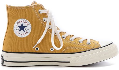 Converse All Star 70s High Top Sneakers In Yellow For Men Sunflower Lyst