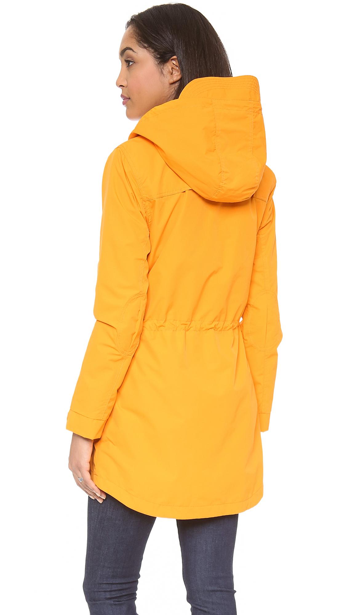 Penfield Weatherproof Zip Through Hooded Jacket Satsuma in Yellow ...