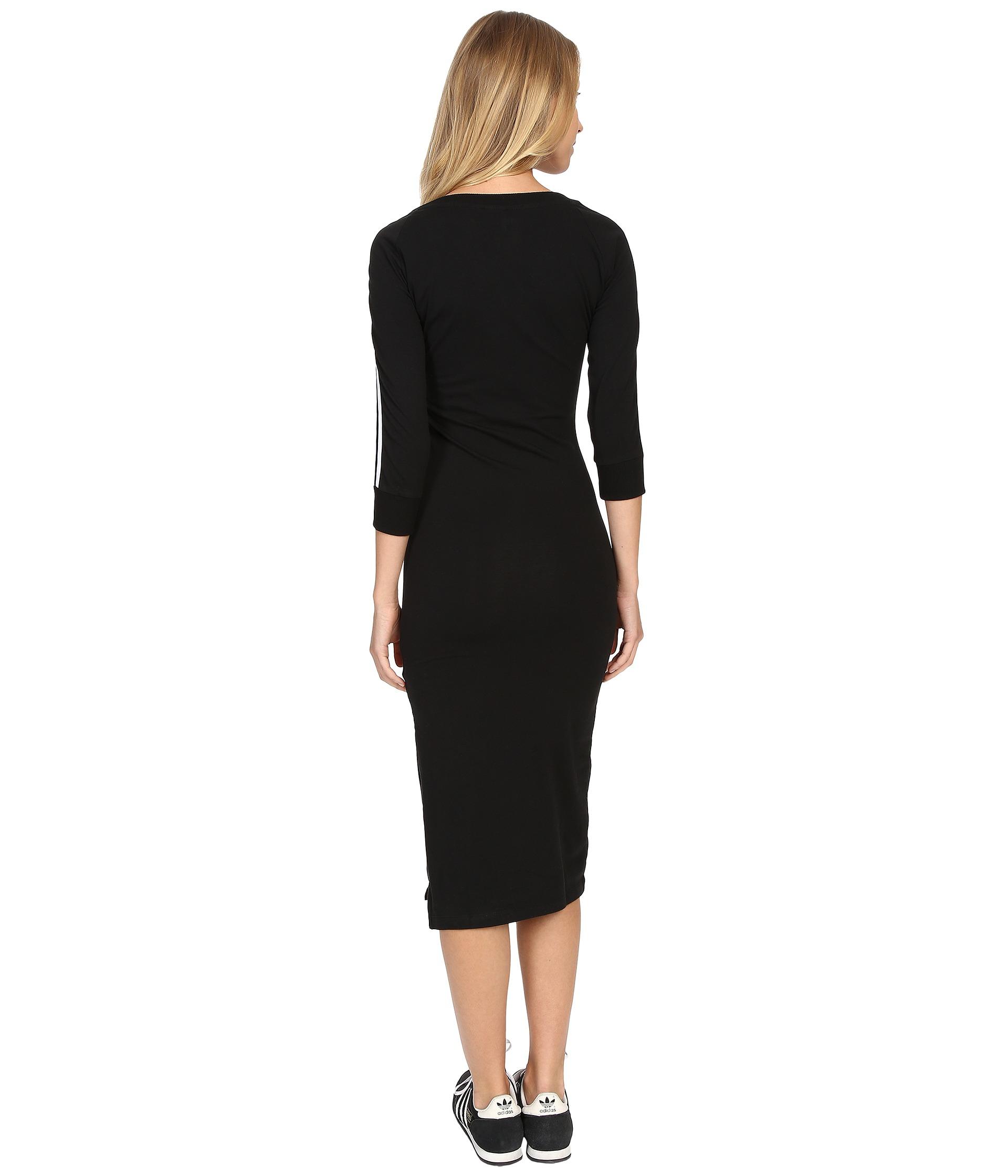 Lyst Adidas Originals 3 Stripes Dress In Black
