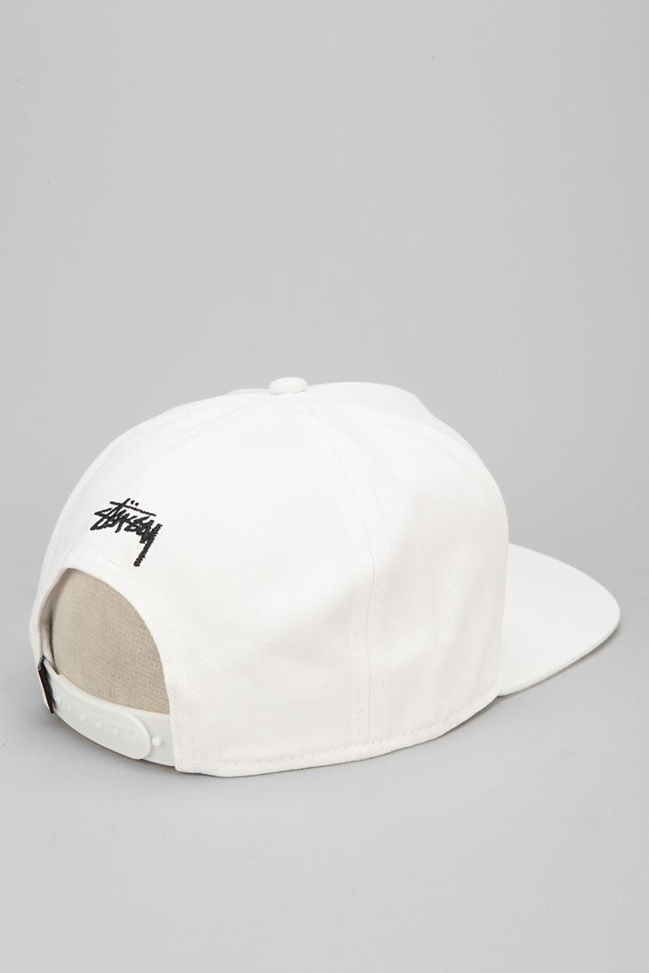 ab4ee56efd935f Stussy Greek Snapback Hat in White for Men - Lyst