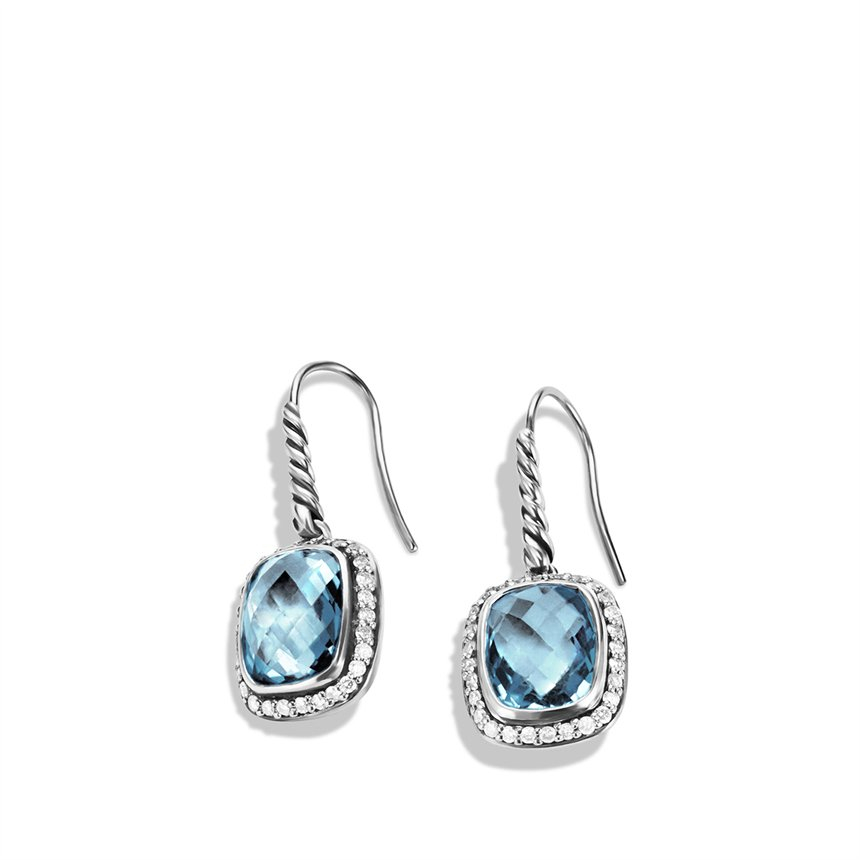 david yurman noblesse drop earrings with blue topaz and