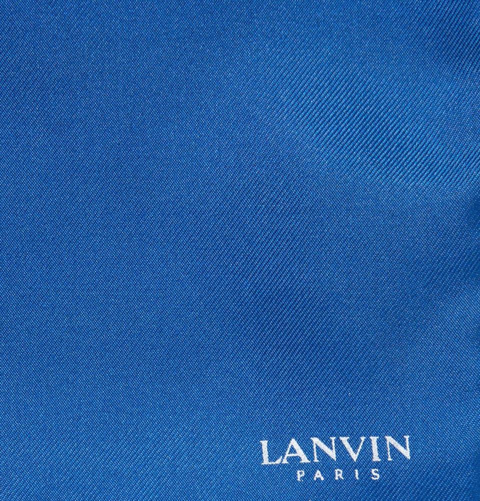 Lyst - Lanvin Fourtone Silk Pocket Square in Blue for Men
