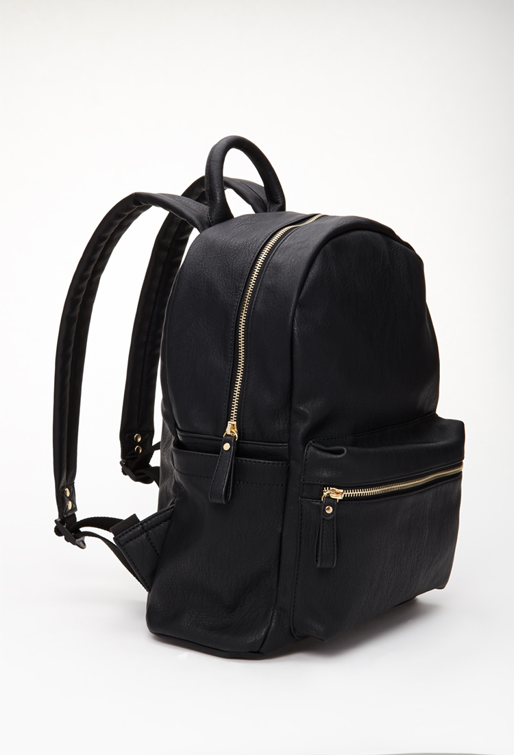 Lyst - Forever 21 Classic Faux Leather Backpack in Black
