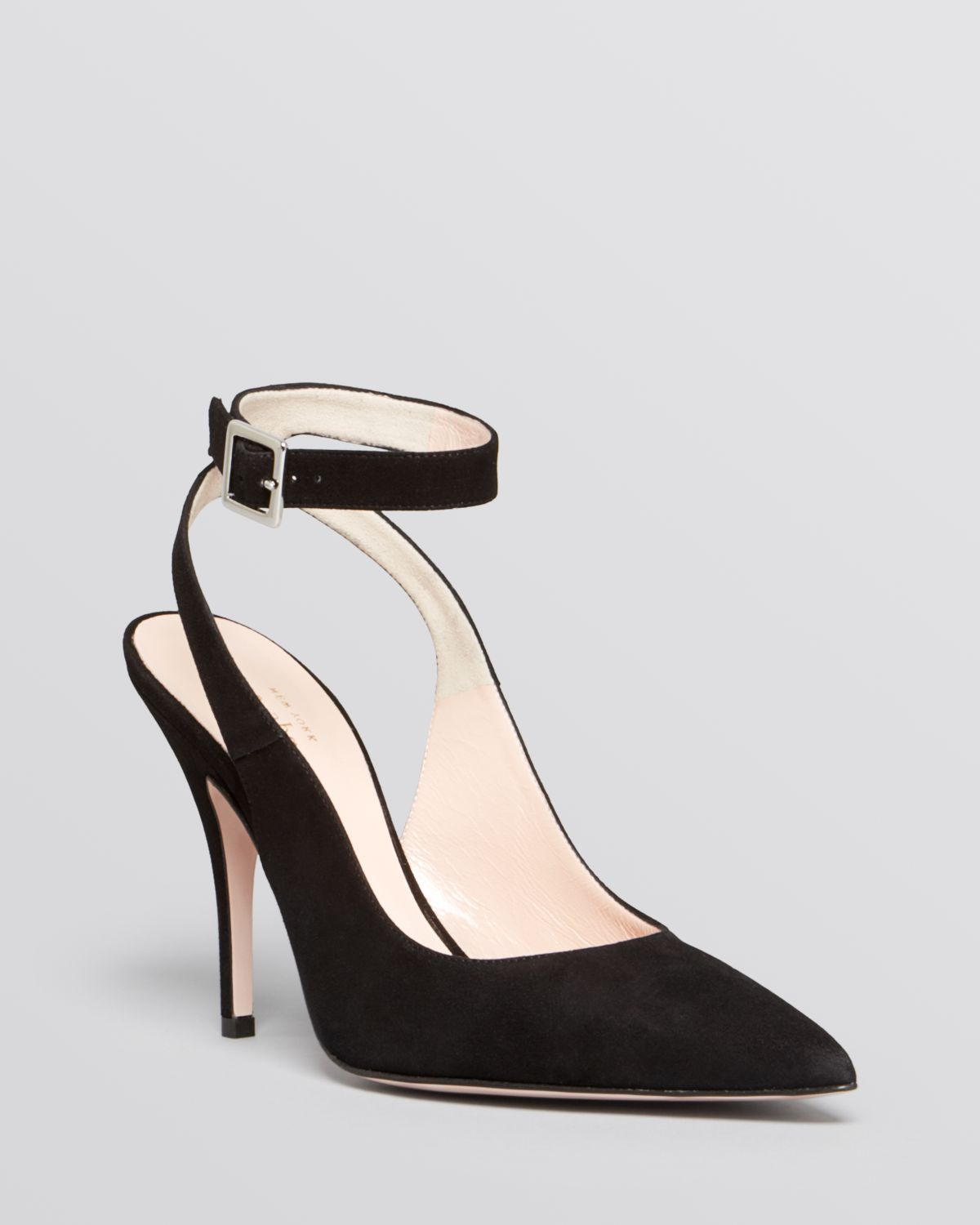 47e1bd7f91fc Lyst - Kate Spade Pointed Toe Ankle Strap Pumps - Luminous High Heel ...