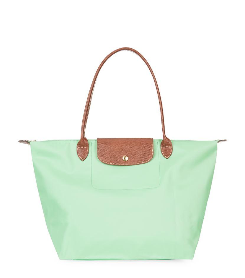 590775acebe7 Longchamp Le Pliage Large Shoulder Bag in Green - Lyst